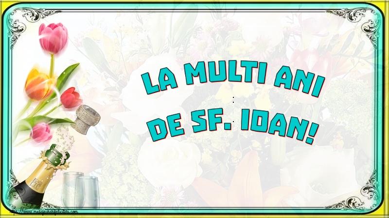 Felicitari de Sfantul Ioan cu sampanie - La multi ani de Sf. Ioan!