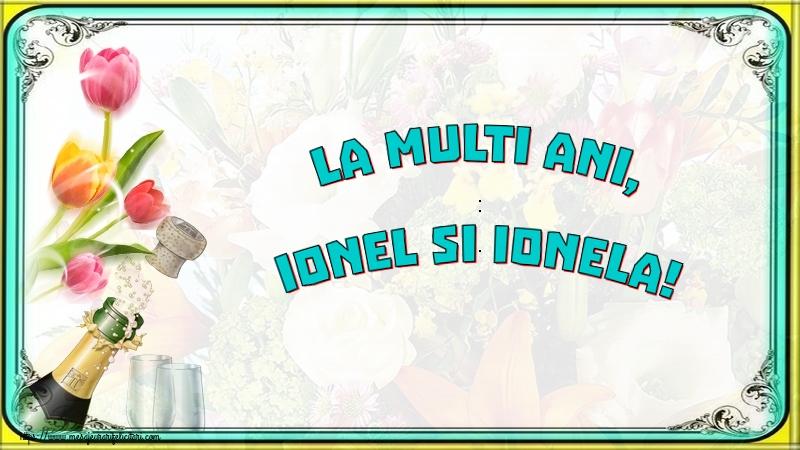 Felicitari de Sfantul Ioan cu sampanie - La multi ani, Ionel si Ionela!