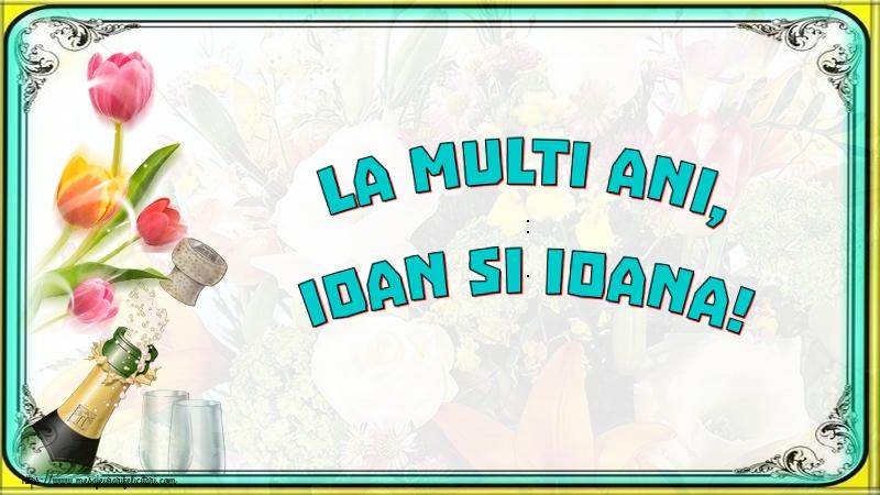 Felicitari de Sfantul Ioan cu sampanie - La multi ani, Ioan si Ioana!