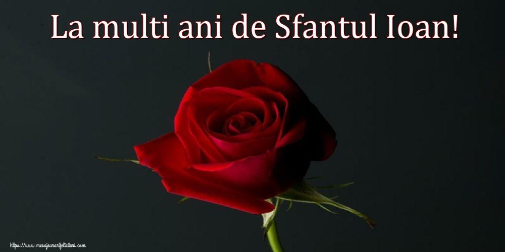 Felicitari de Sfantul Ioan cu flori - La multi ani de Sfantul Ioan!