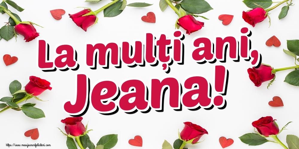 Felicitari de Sfantul Ioan - La mulți ani, Jeana!