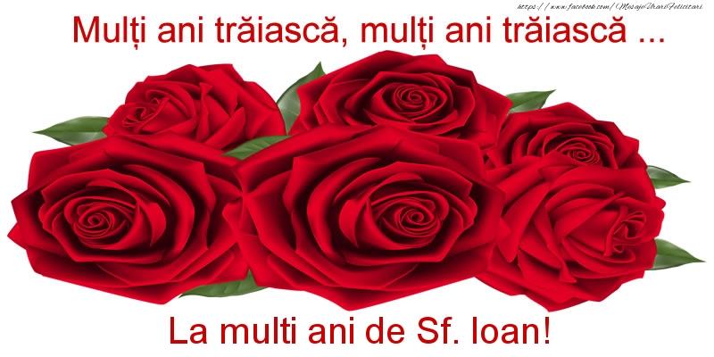 Felicitari de Sfantul Ioan - Multi ani traiasca, multi ani traiasca ... La multi ani de Sf. Ioan!