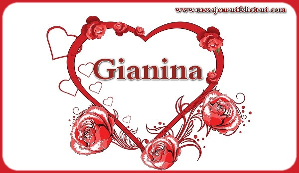 Felicitari de Sfantul Ioan - LOVE Gianina