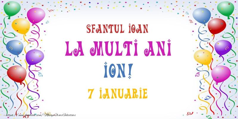 Felicitari de Sfantul Ioan - La multi ani Ion! 7 Ianuarie