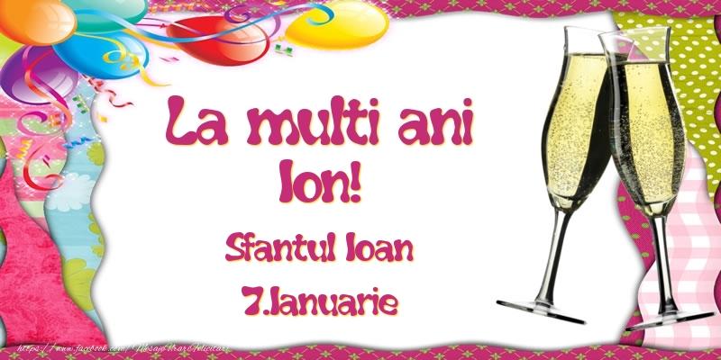 Felicitari de Sfantul Ioan - La multi ani, Ion! Sfantul Ioan - 7.Ianuarie