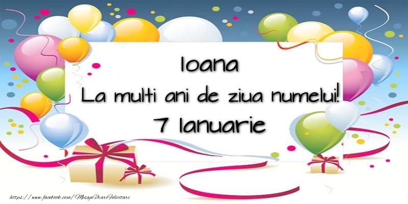 Felicitari de Sfantul Ioan - Ioana, La multi ani de ziua numelui! 7 Ianuarie