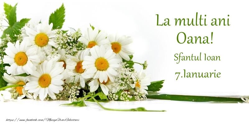 La multi ani, Oana! 7.Ianuarie - Sfantul Ioan