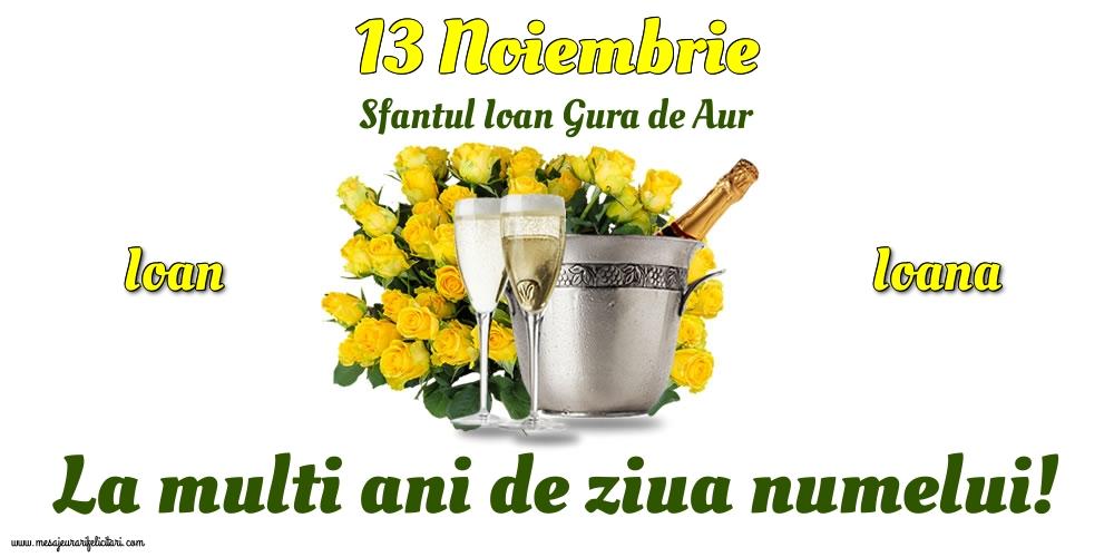 Felicitari de Sfântul Ioan - 13 Noiembrie - Sfantul Ioan Gura de Aur