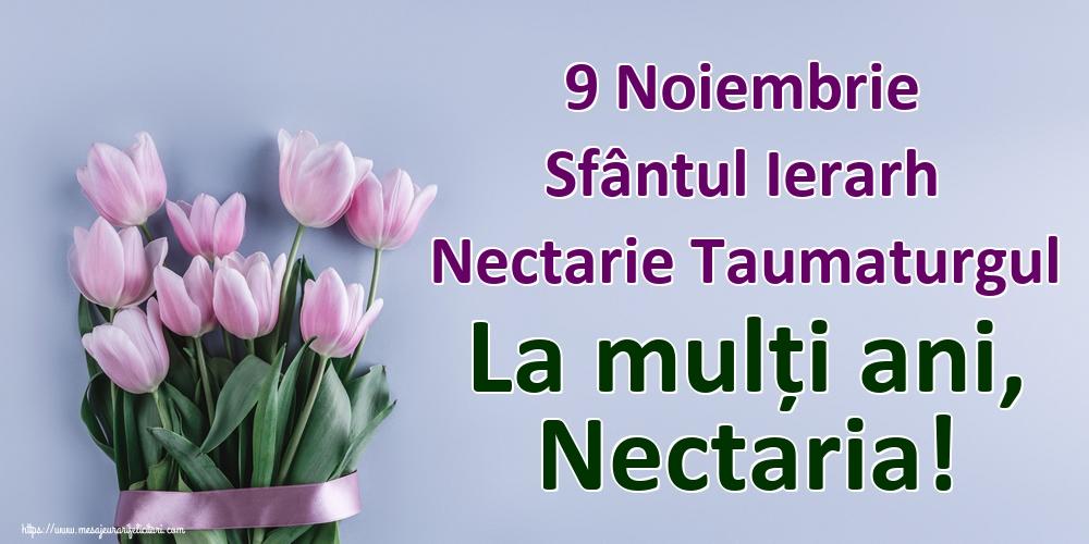 Felicitari de Sfantul Nectarie - 9 Noiembrie Sfântul Ierarh Nectarie Taumaturgul La mulți ani, Nectaria!