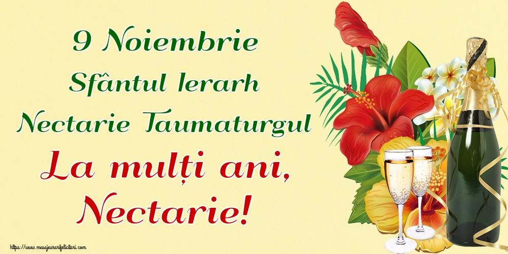 Felicitari de Sfantul Nectarie - 9 Noiembrie Sfântul Ierarh Nectarie Taumaturgul La mulți ani, Nectarie!