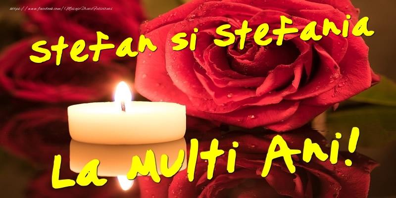 Felicitari de Sfantul Stefan - Stefan si Stefania  - La multi ani!