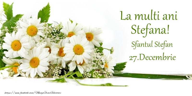 Felicitari de Sfantul Stefan - La multi ani, Stefana! 27.Decembrie - Sfantul Stefan