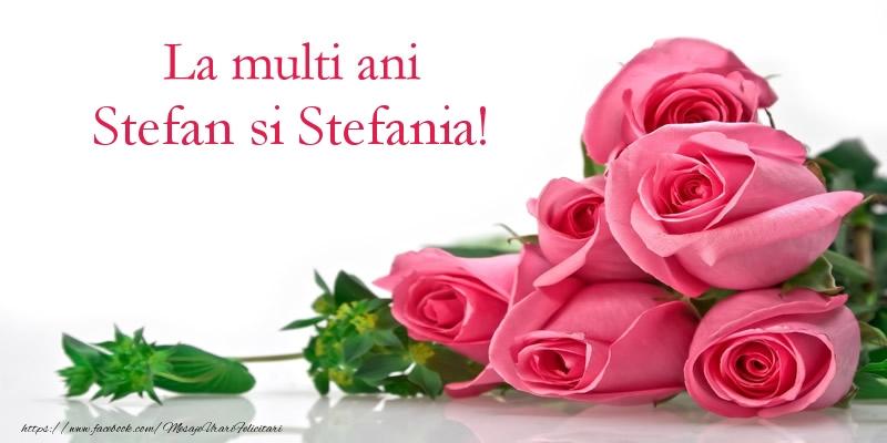 Felicitari de Sfantul Stefan - La multi ani Stefan si Stefania!