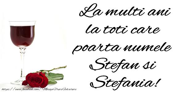 La multi ani la toti care poarta numele Stefan si Stefania!