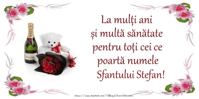 La multi ani si multa sanatate pentru toti ce poarta numele Sfantului Stefan!