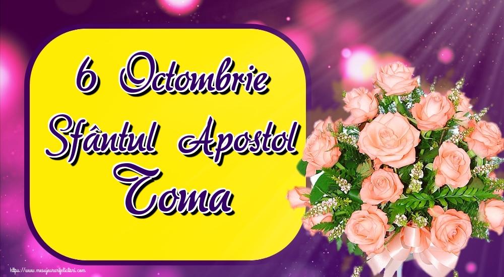 Felicitari de Sfântul Toma - 6 Octombrie Sfântul Apostol Toma