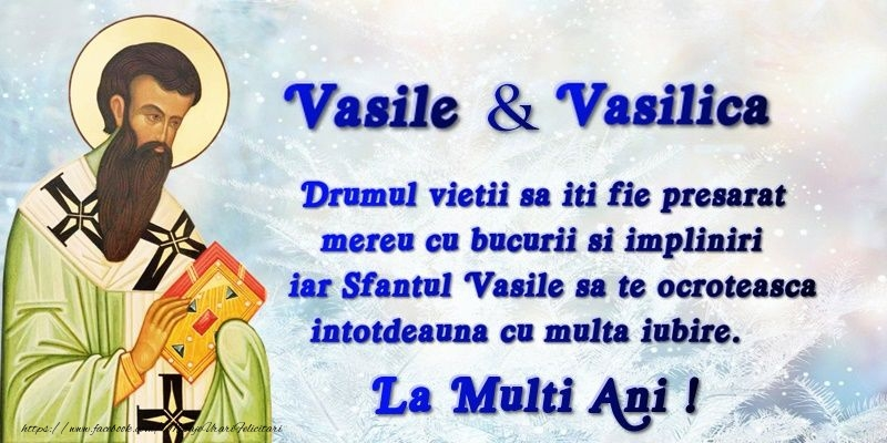 La multi ani de Sfantul Vasile!