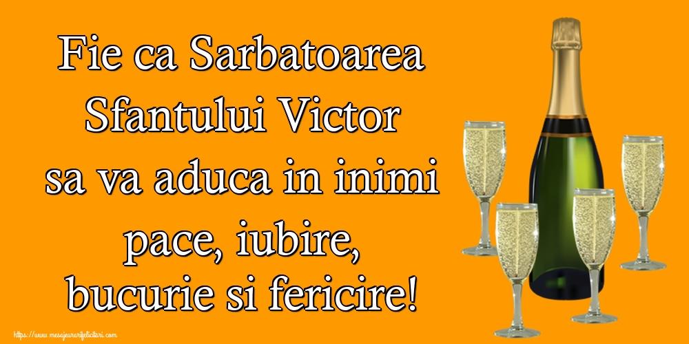 Felicitari de Sfantul Victor - Fie ca Sarbatoarea Sfantului Victor sa va aduca in inimi pace, iubire, bucurie si fericire! - mesajeurarifelicitari.com