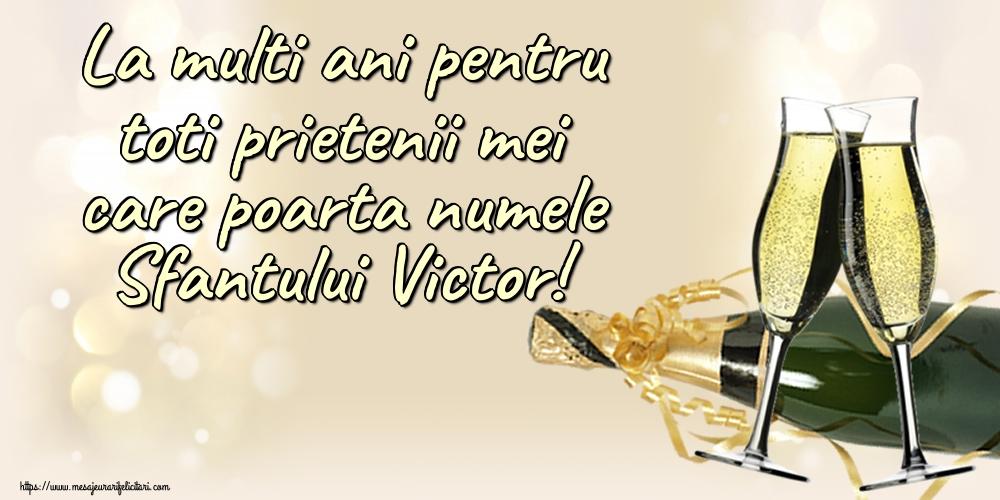 La multi ani pentru toti prietenii mei care poarta numele Sfantului Victor!