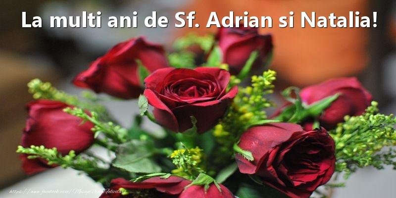Felicitari de Sfintii Adrian si Natalia - La multi ani de Sf. Adrian si Natalia!