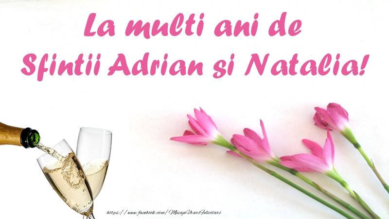 La multi ani de Sfintii Adrian si Natalia!