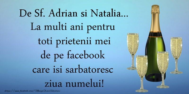Felicitari de Sfintii Adrian si Natalia - De Sf. Adrian si Natalia ... La multi ani pentru toti prietenii mei de pe facebook care isi sarbatoresc ziua numelui!