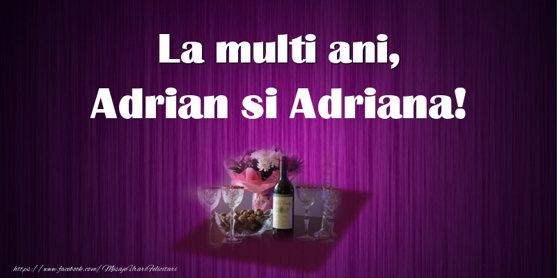 Felicitari de Sfintii Adrian si Natalia - La multi ani, Adrian si Adriana!