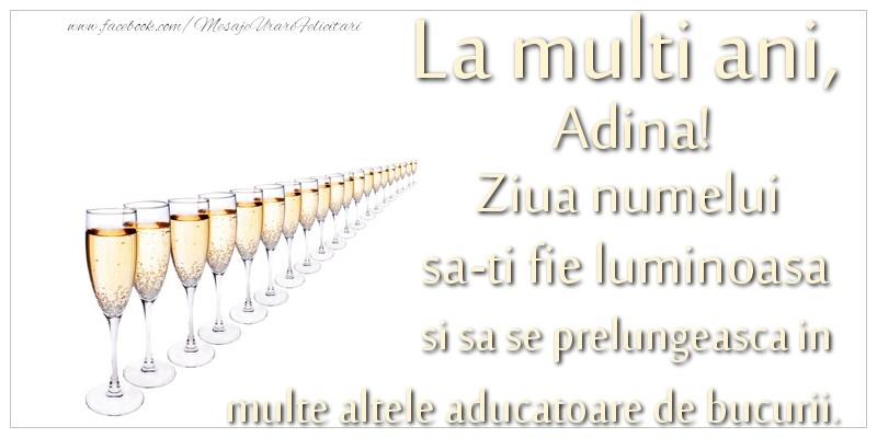 Felicitari de Sfintii Adrian si Natalia - La multi ani, Adina Ziua numelui sa-ti fie luminoasa si sa se prelungeasca in  multe altele aducatoare de bucurii.