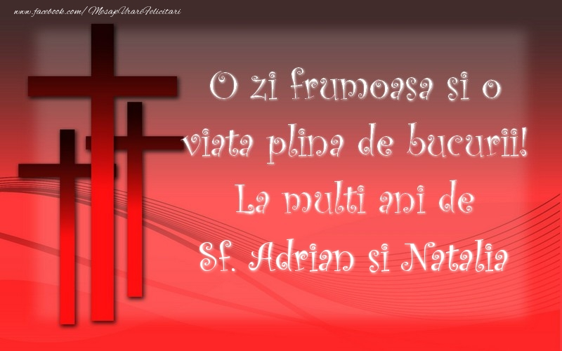 Felicitari de Sfintii Adrian si Natalia - Sf. Adrian si Natalia