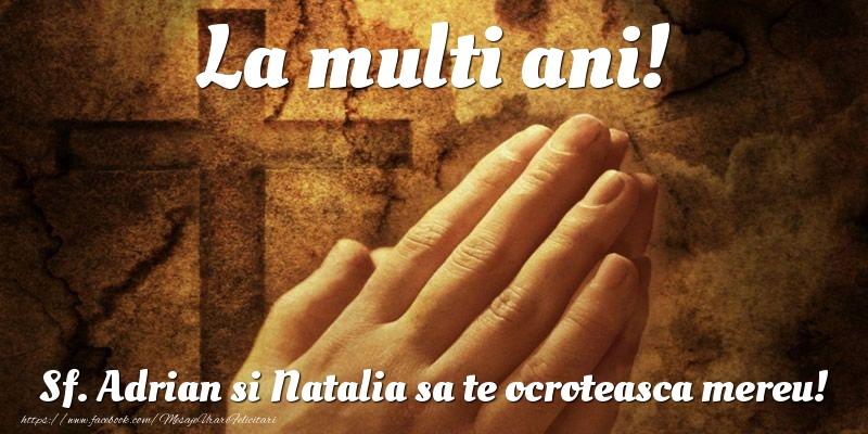 La multi ani! Sf. Adrian si Natalia sa te ocroteasca mereu!