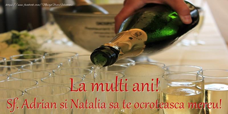 Felicitari de Sfintii Adrian si Natalia - La multi ani! Sf. Adrian si Natalia sa te ocroteasca mereu!