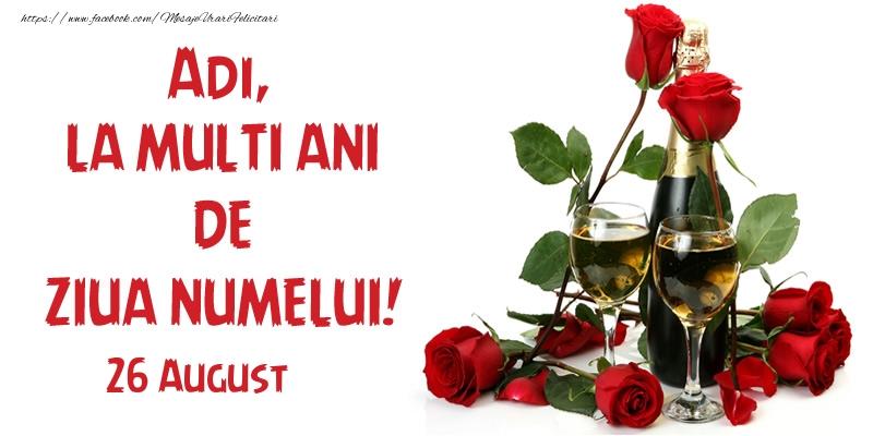 Felicitari de Sfintii Adrian si Natalia - Adi, la multi ani de ziua numelui! 26 August