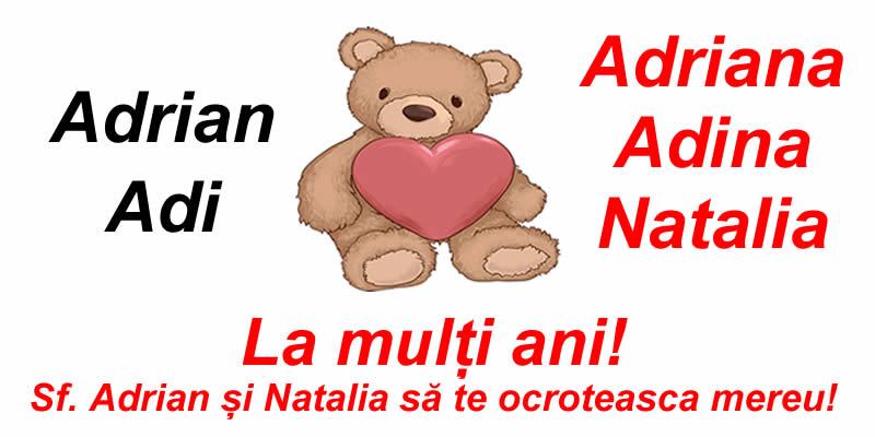 Cele mai apreciate felicitari de Sfintii Adrian si Natalia - La mulți ani! Sf. Adrian și Natalia să te ocroteasca mereu!