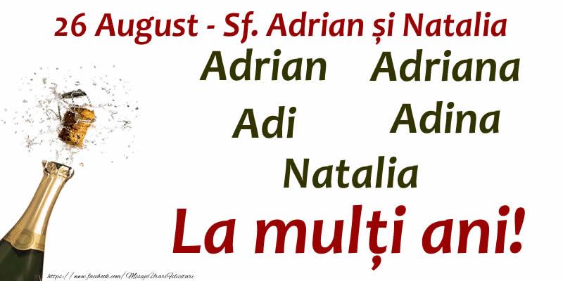 Cele mai apreciate felicitari de Sfintii Adrian si Natalia - La mulți ani!