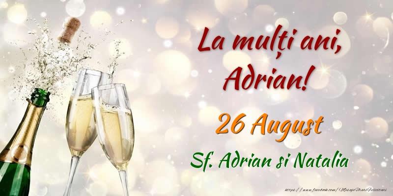 Cele mai apreciate felicitari de Sfintii Adrian si Natalia - La multi ani, Adrian! 26 August Sf. Adrian si Natalia
