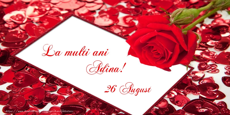 Felicitari de Sfintii Adrian si Natalia - La multi ani Adina! 26 August