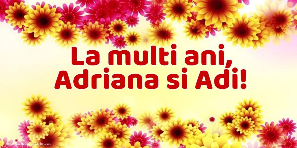 Felicitari de Sfintii Adrian si Natalia - La multi ani, Adriana si Adi!