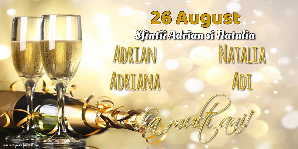Felicitari de Sfintii Adrian si Natalia - 26 August - Sfintii Adrian si Natalia