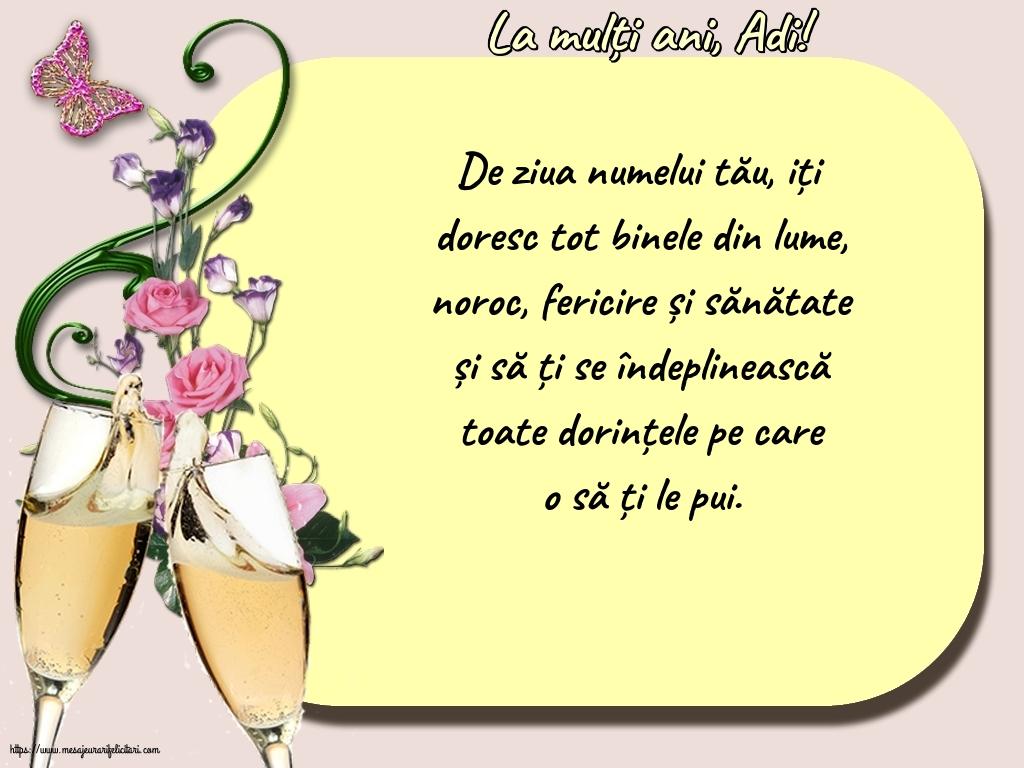 Felicitari de Sfintii Adrian si Natalia - La mulți ani, Adi!