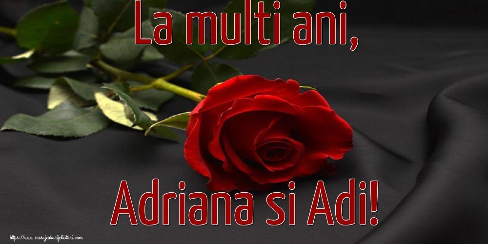 Felicitari de Sfintii Adrian si Natalia cu flori - La multi ani, Adriana si Adi!