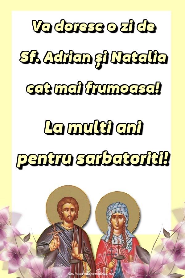 Felicitari de Sfintii Adrian si Natalia 2019