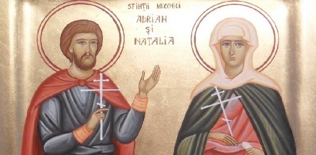 Sfintii Adrian si Natalia: Mesaje şi urări, felicitări, video şi felicitări muzicale şi animate