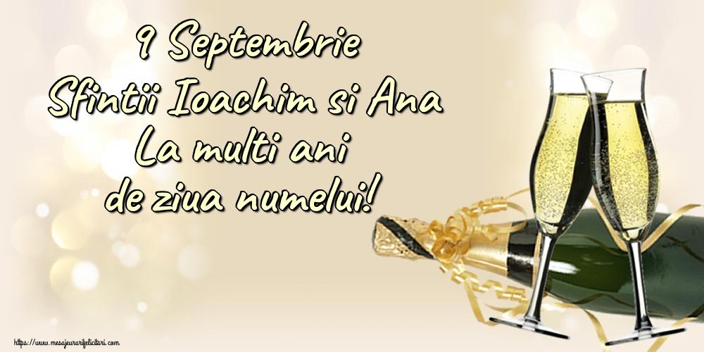 Felicitari de Sfintii Ioachim si Ana - 9 Septembrie Sfintii Ioachim si Ana La multi ani de ziua numelui!