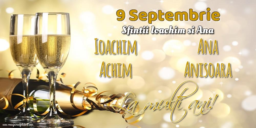 Felicitari de Sfintii Ioachim si Ana - 9 Septembrie - Sfintii Ioachim si Ana