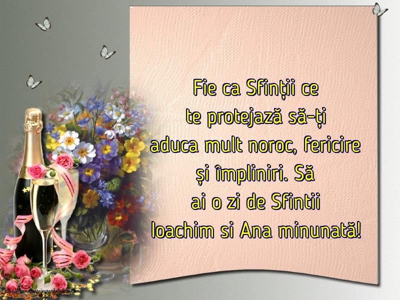 Felicitari de Sfintii Ioachim si Ana - Să ai o zi de Sfintii Ioachim si Ana minunată!