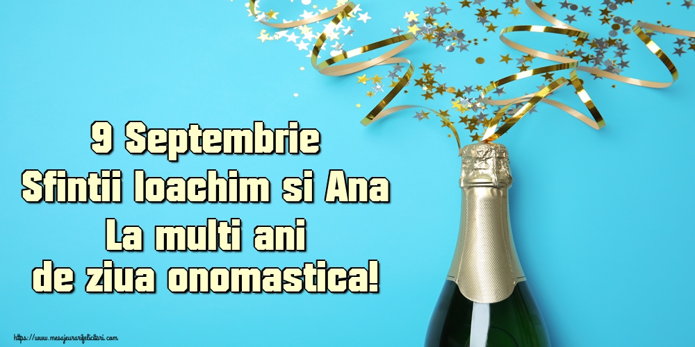 Felicitari de Sfintii Ioachim si Ana - 9 Septembrie Sfintii Ioachim si Ana La multi ani de ziua onomastica!