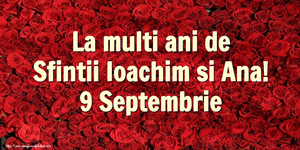Felicitari de Sfintii Ioachim si Ana cu flori - La multi ani de Sfintii Ioachim si Ana! 9 Septembrie