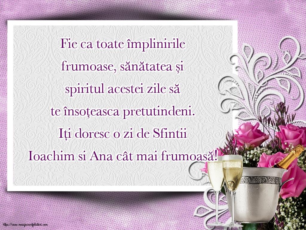 Felicitari de Sfintii Ioachim si Ana - Iți doresc o zi de Sfintii Ioachim si Ana cât mai frumoasă!