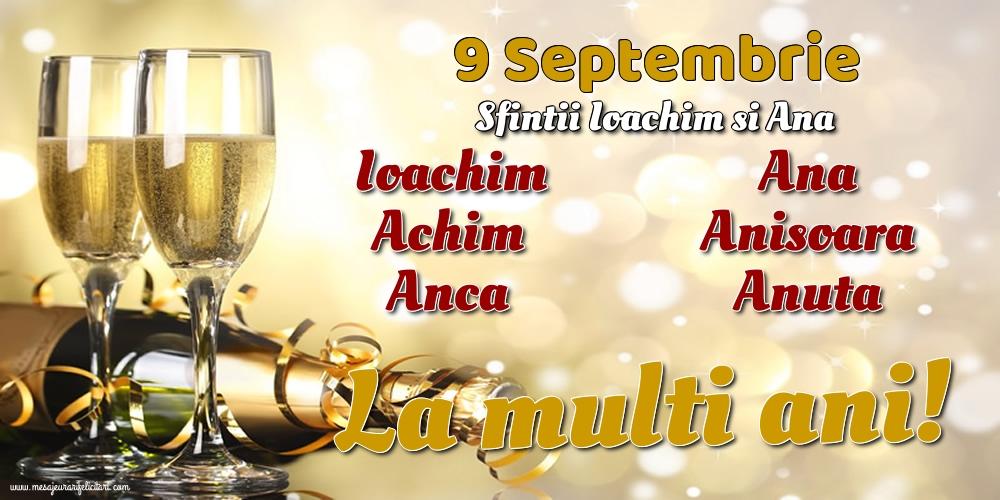 Felicitari de Sfintii Ioachim si Ana cu sampanie - 9 Septembrie - Sfintii Ioachim si Ana