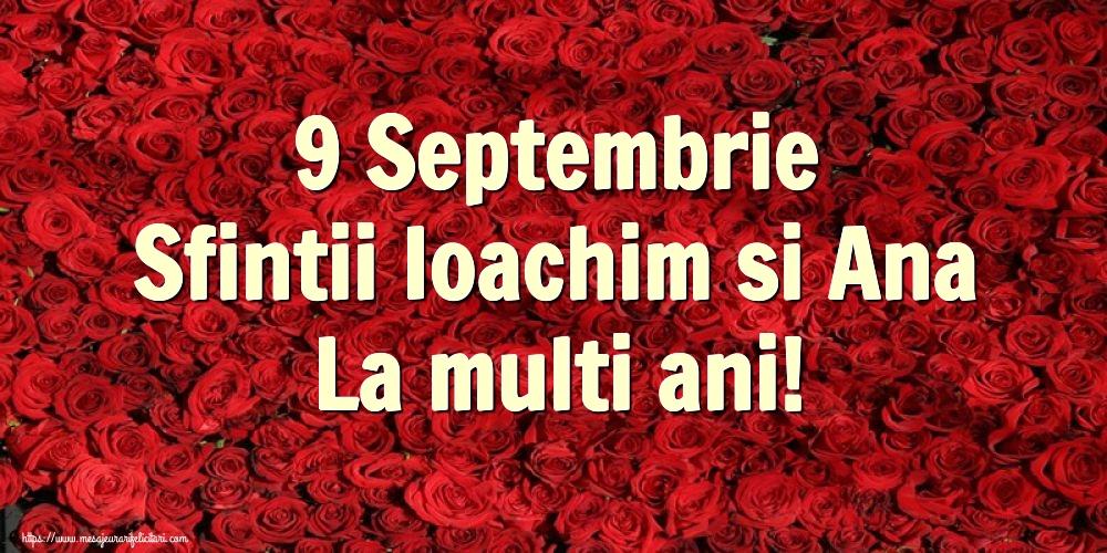 Felicitari de Sfintii Ioachim si Ana - 9 Septembrie Sfintii Ioachim si Ana La multi ani!
